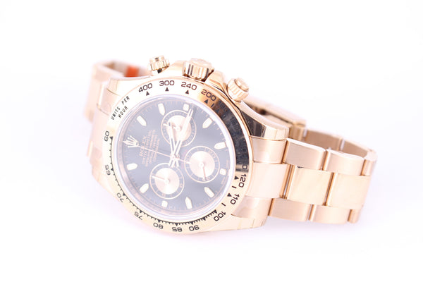 Rolex Oyster Perpetual Cosmograph Daytona Rose Gold Watch 116505