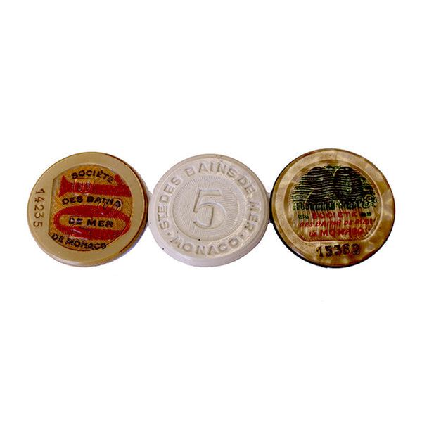 Vintage Monaco Casino Gaming Tokens