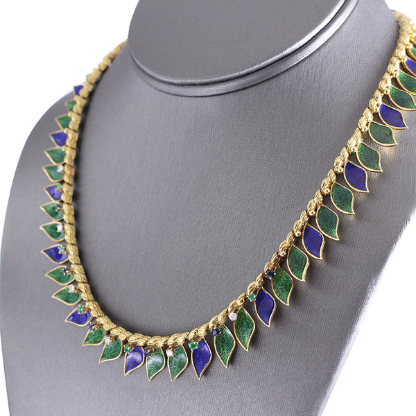 The Plique A Jour Enamel Necklace