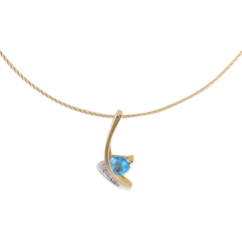 Blue topaz pendant blue stone necklace pendant ogj the sailing on the surf aloadofball Gallery