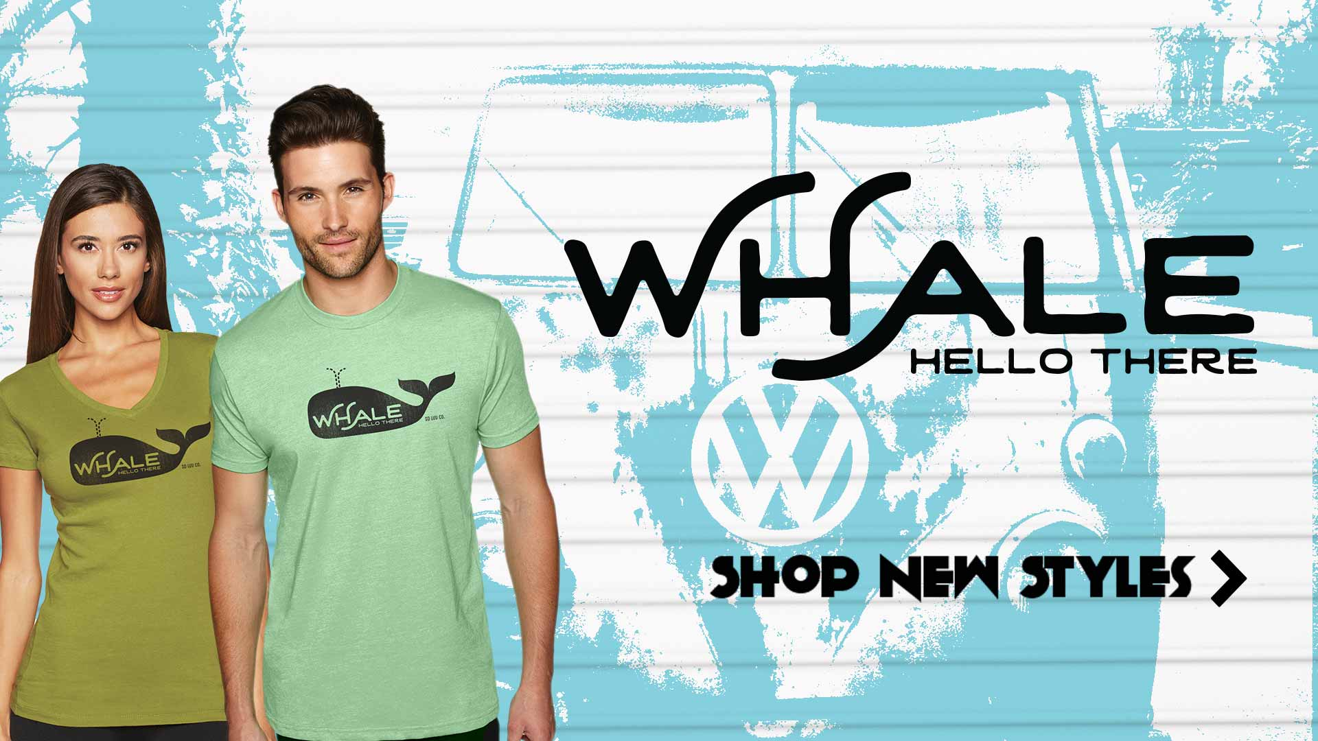 shop new styles like our whale hello design