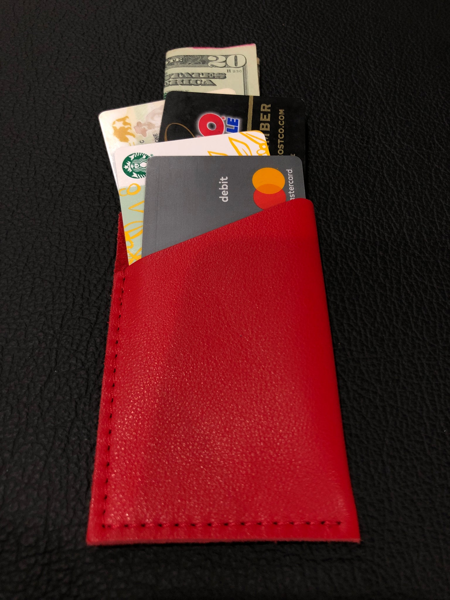 Red Single Sleeve Wallet