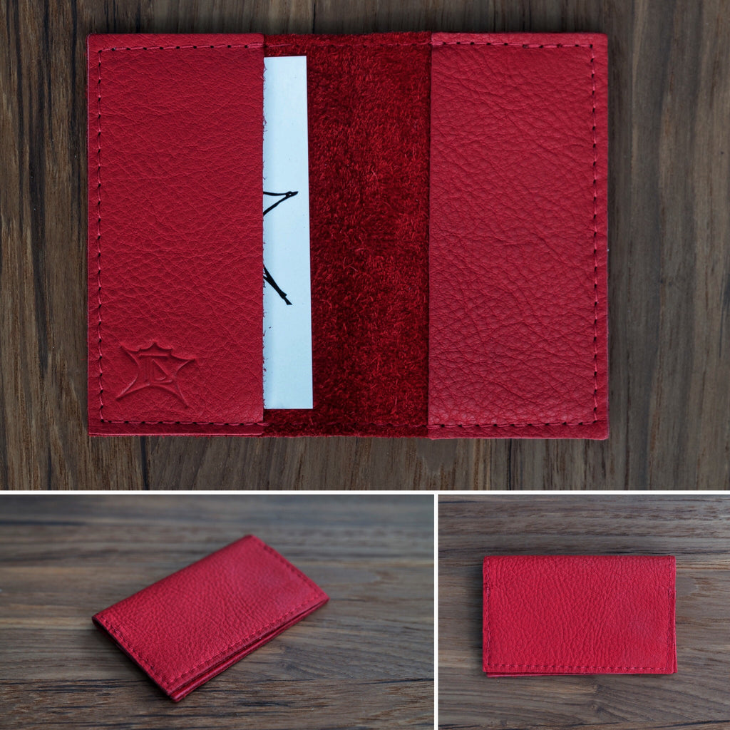 Red bifold wallet
