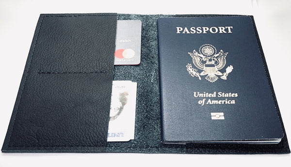 Black Passport Wallet