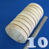 "10 x Circle 5.0"" inch ~ 125 mm - Pine Wooden Blocks / Plaques / Discs"