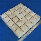 "25 x Cubes 2.0"" inch ~ 50 mm - Pine Wooden Craft Blocks"