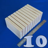 "10 x Plaques 4"" x 6"" inch ~ 100 mm x 150 mm - Pine Wooden Blocks"