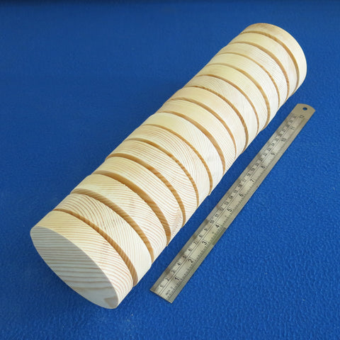 "15 x Circle 4.0"" inch ~ 100 mm - Pine Wooden Blocks / Plaques / Discs"