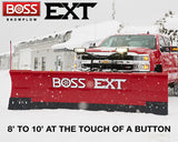 EXT 8'-10' Expandable BOSS Straight-Blade Plows - Snow Plow - BOSS - Hayden's Auto's Trucks & Equipment - 1