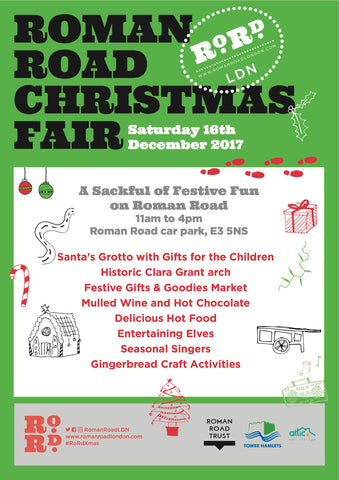 Roman Road Christmas Fair Saturday 16th December 2017 11-4pm