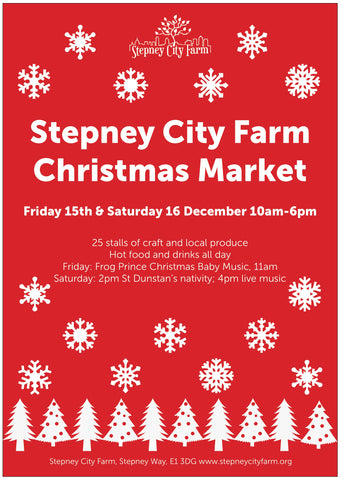 Stepney City Farm Christmas Market 15th and 16th December 2017 10-6pm