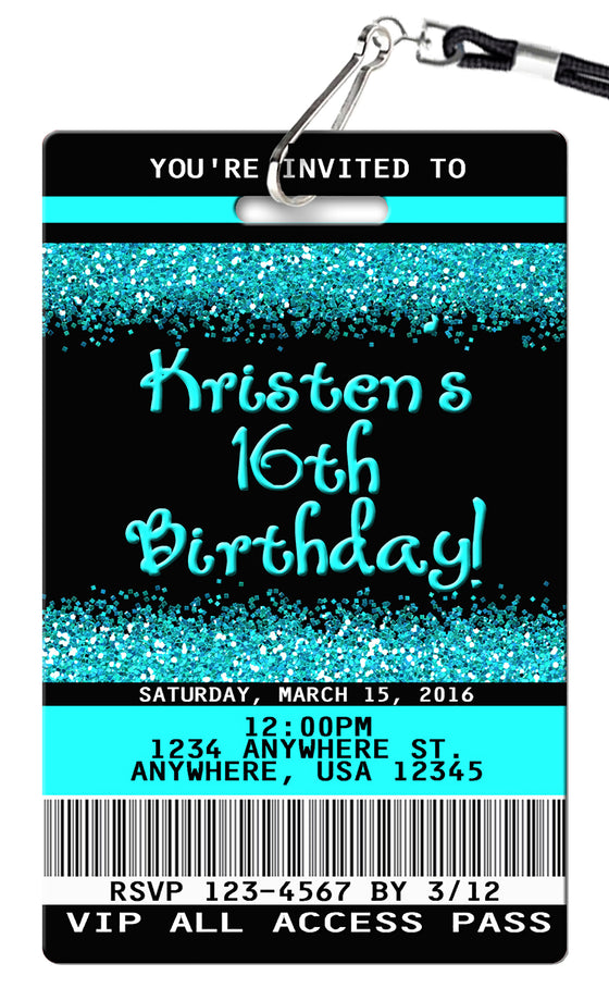 16th Birthday Invitation