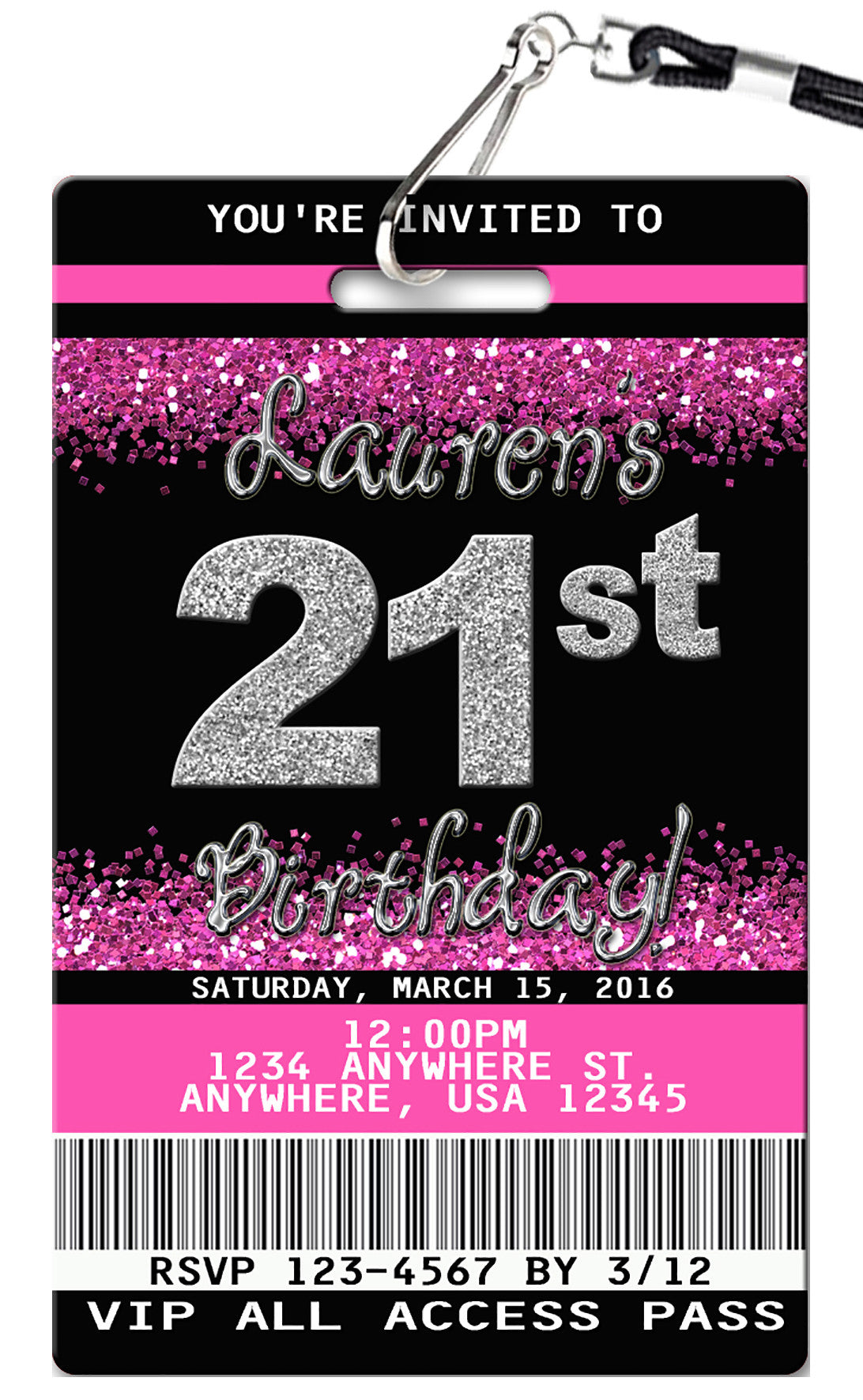 21st birthday invitation pvc invites vip birthday invitations 21st birthday invitation filmwisefo
