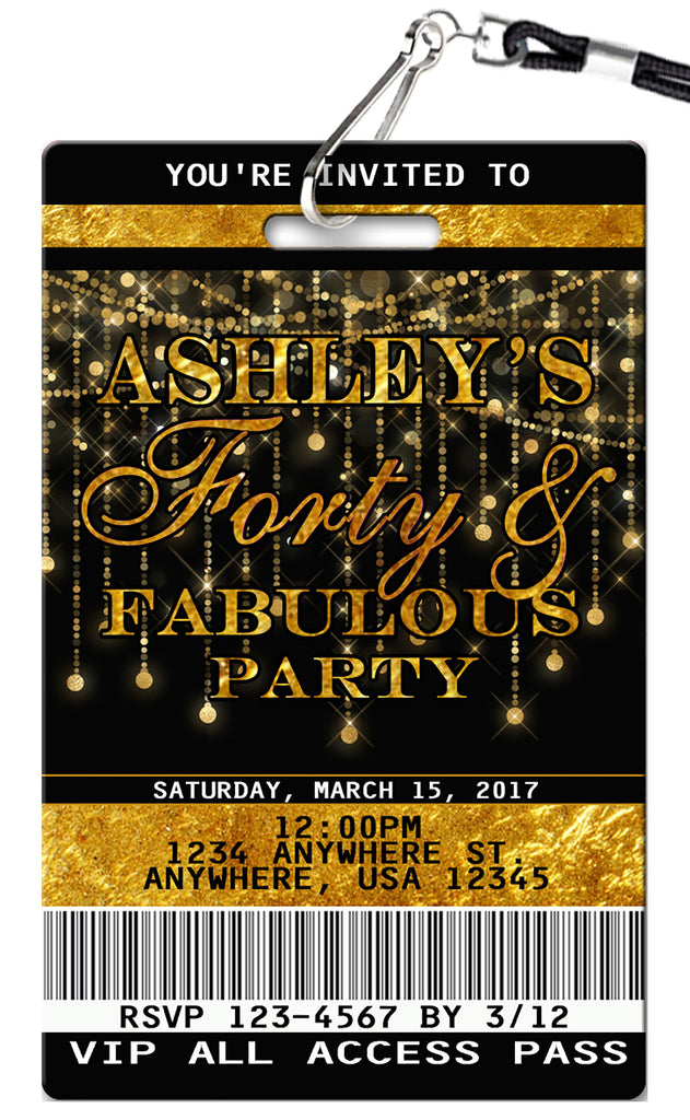 40th Birthday Invitations