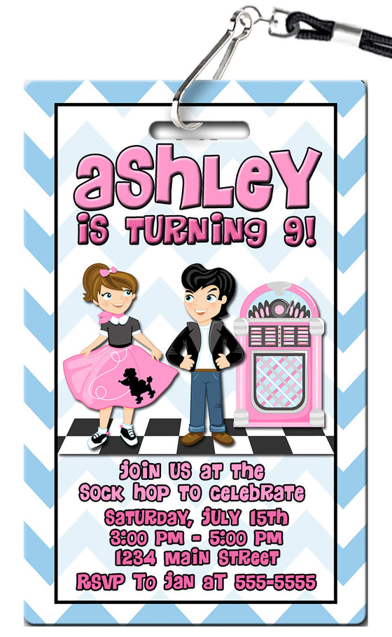 1950s Birthday Invitations
