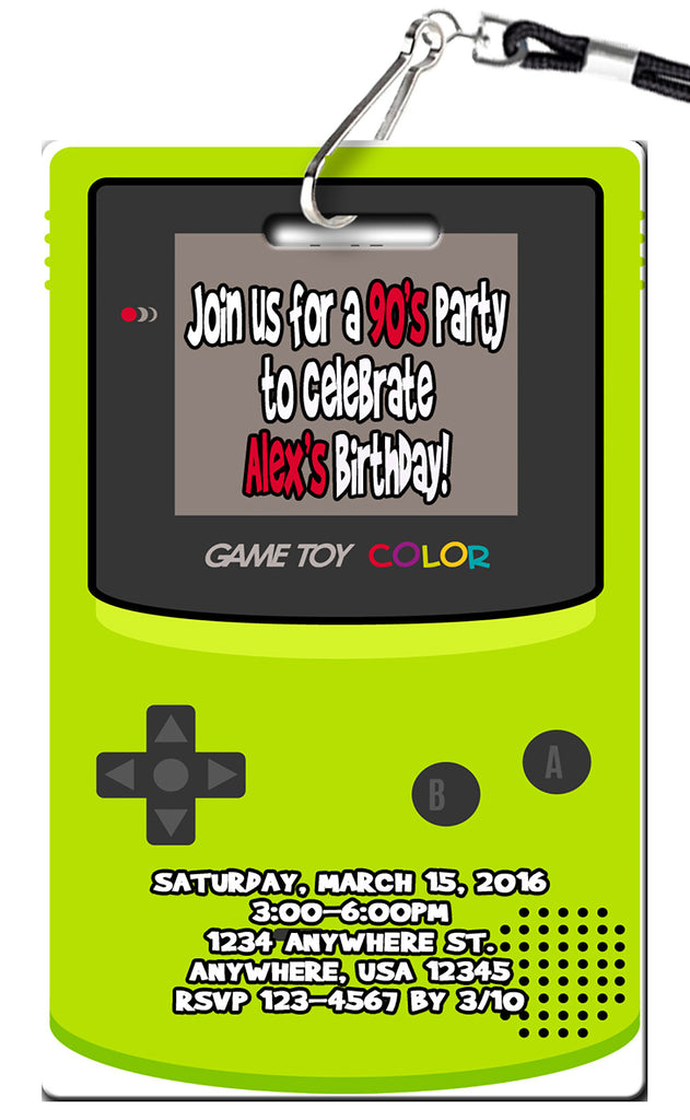 1990's Birthday Invitation