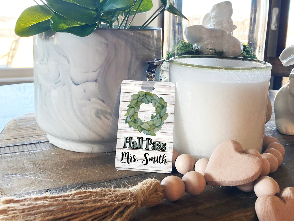 Magnolia Wreath Hall Passes (Set of 10)