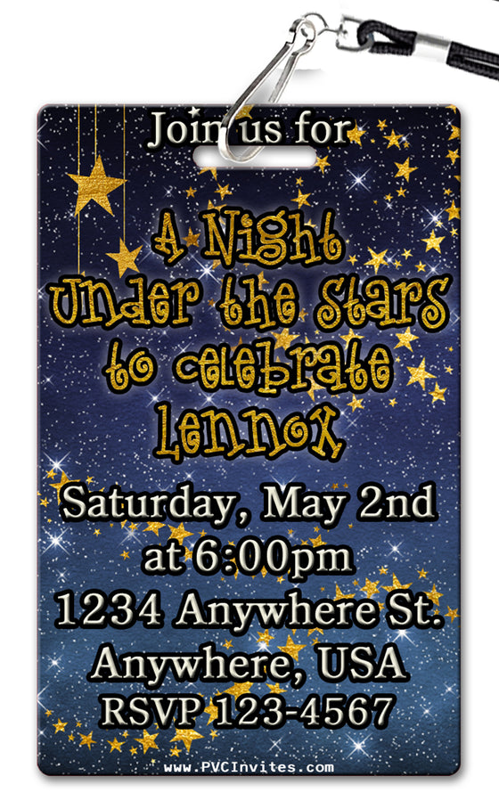 A Night Under the Stars Birthday Invitation