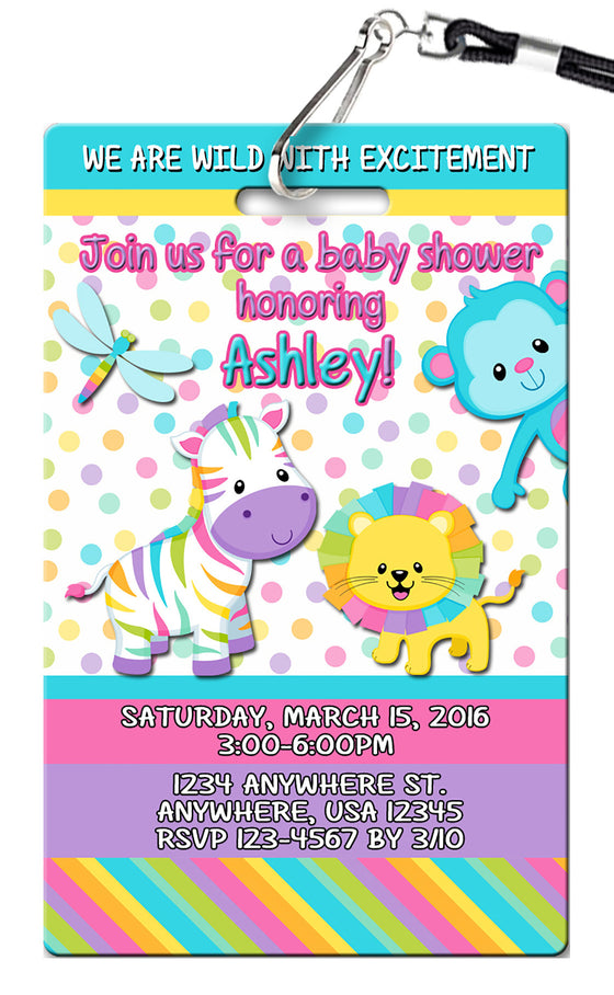 Baby Animals Birthday Invitations