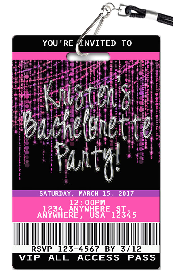 Bachelorette Birthday Invitations