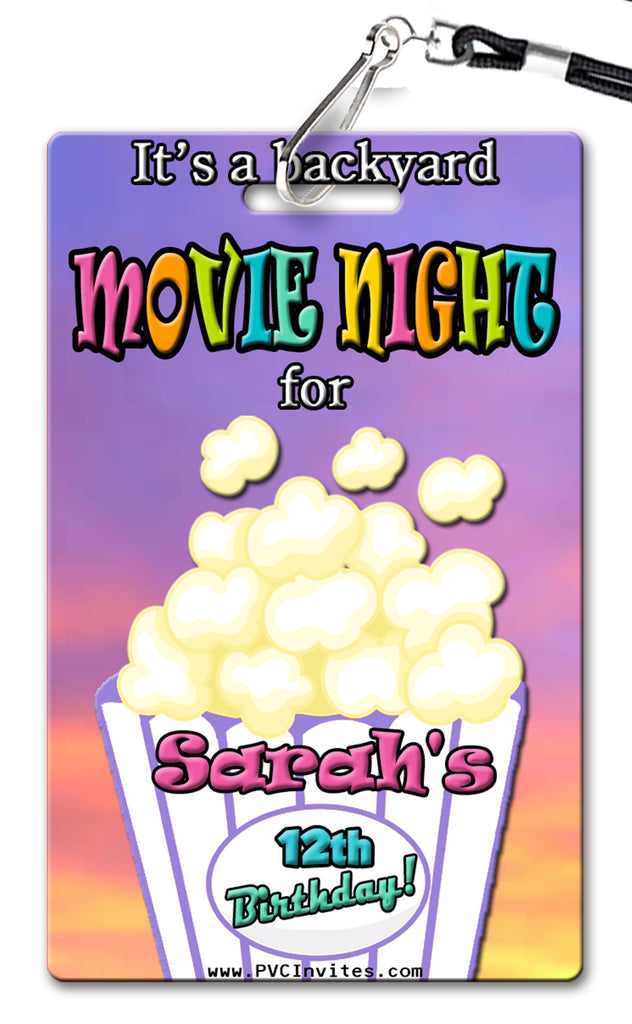 Backyard Movie Invitation