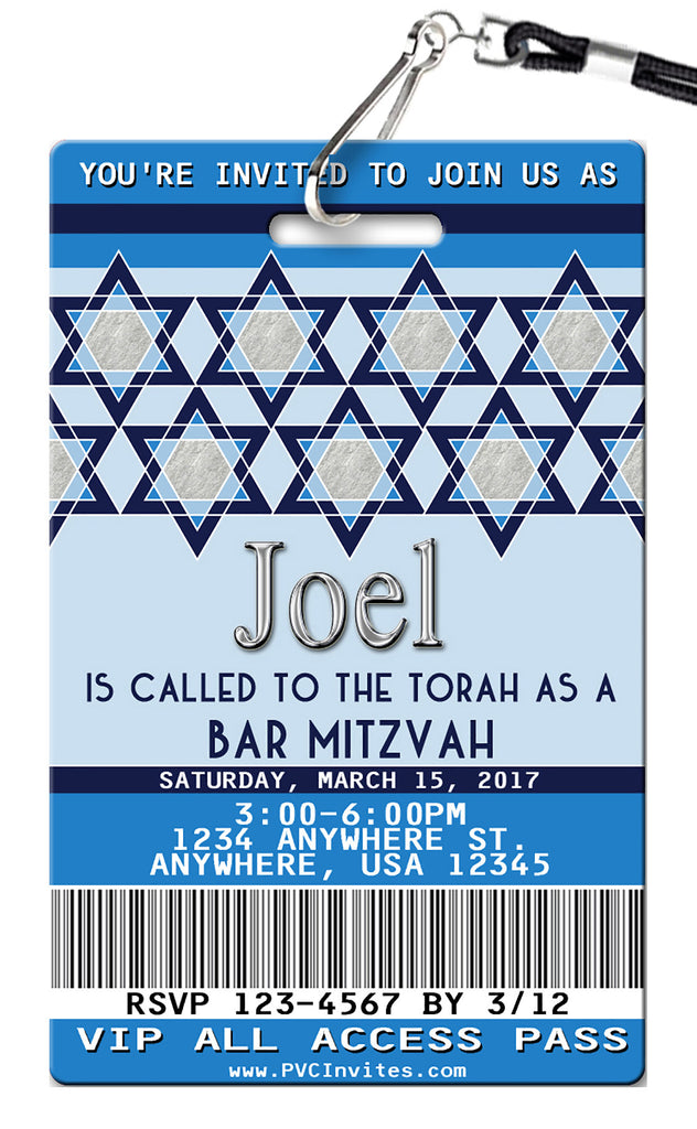 Bar Mitzvah Birthday Invitation
