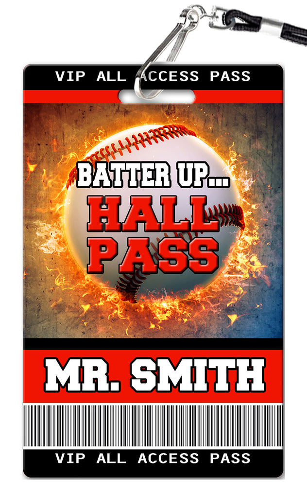 Baseball Theme Hall Passes (Set of 10)