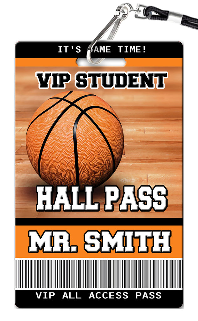 Basketball Theme Hall Passes (Set of 10)
