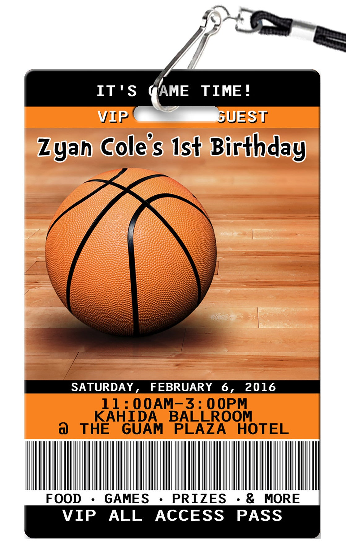 Basketball Birthday Invitation PVC Invites VIP Birthday – Basketball Birthday Invitations