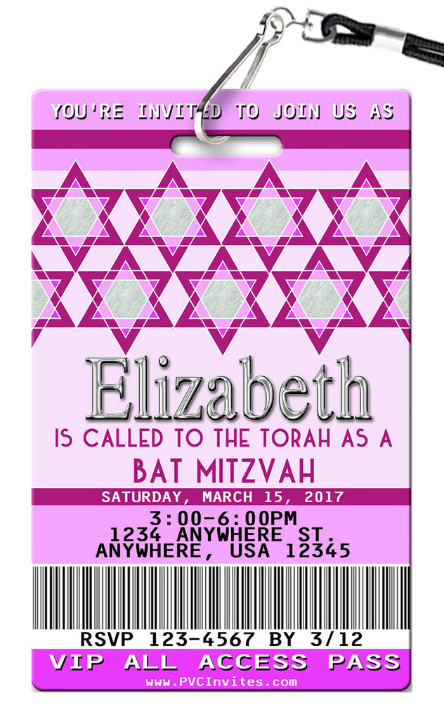 Bat Mitzvah Birthday Invitation