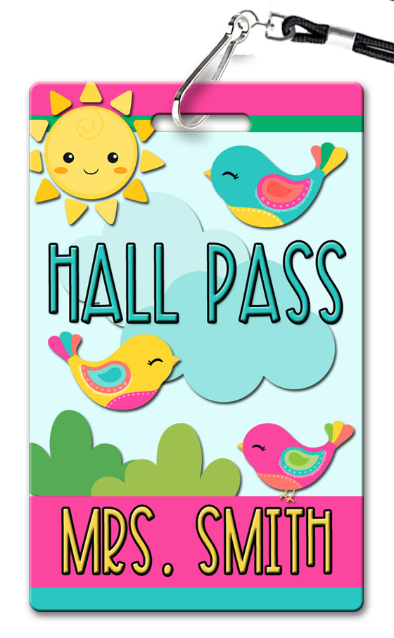 Birds Hall Passes (Set of 10)