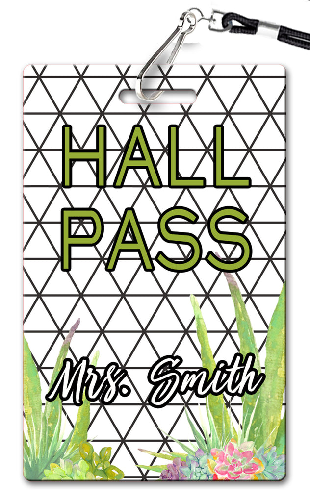 Black & White Succulents Hall Passes (Set of 10)
