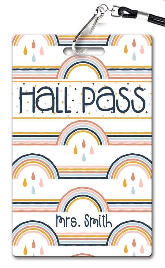 Boho Rainbow Hall Passes (Set of 10)