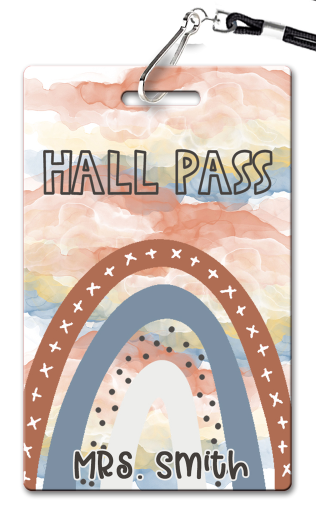 Boho Rainbows Hall Passes (Set of 10)