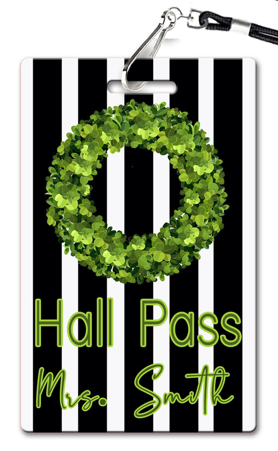Boxwood Wreath Hall Passes (Set of 10)