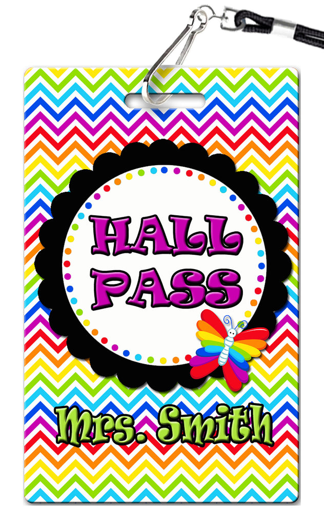 Butterfly Theme Hall Passes (Set of 10)