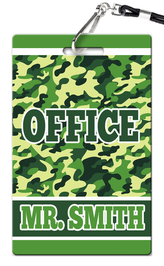 Camo Hall Passes (Set of 10)