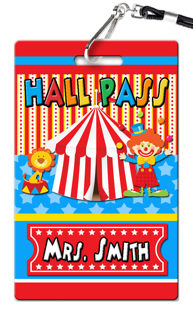 Circus Carnival Theme Hall Passes (Set of 10)