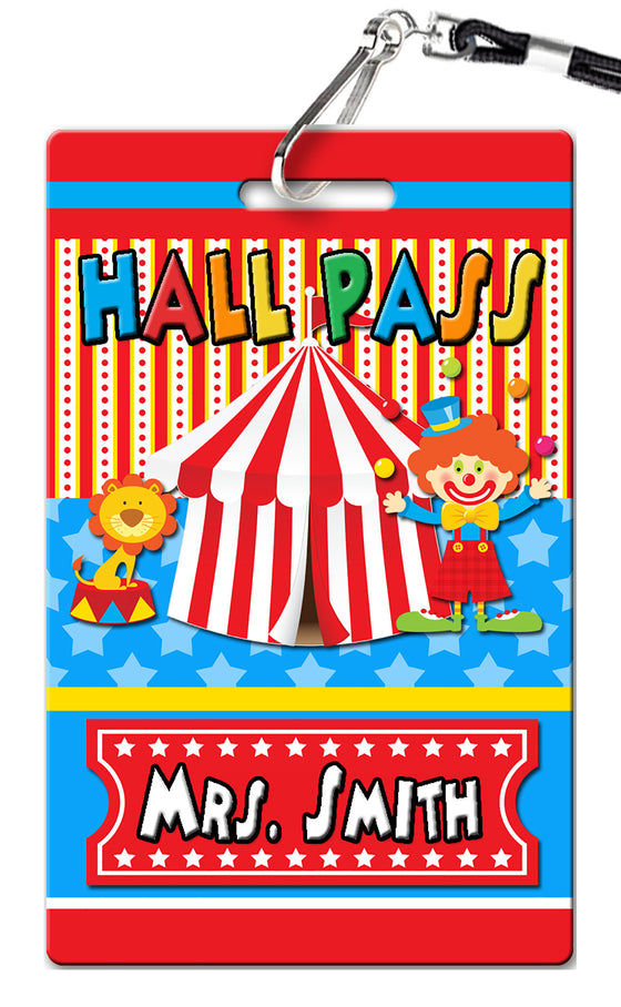 Circus Carnival Hall Passes (Set of 10)