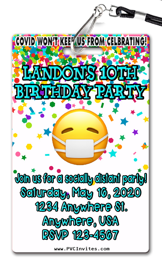 COVID Birthday Party Invitation