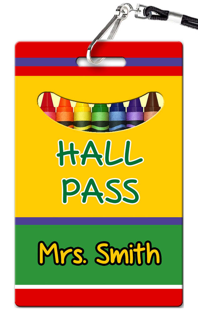 Crayon Hall Passes (Set of 10)