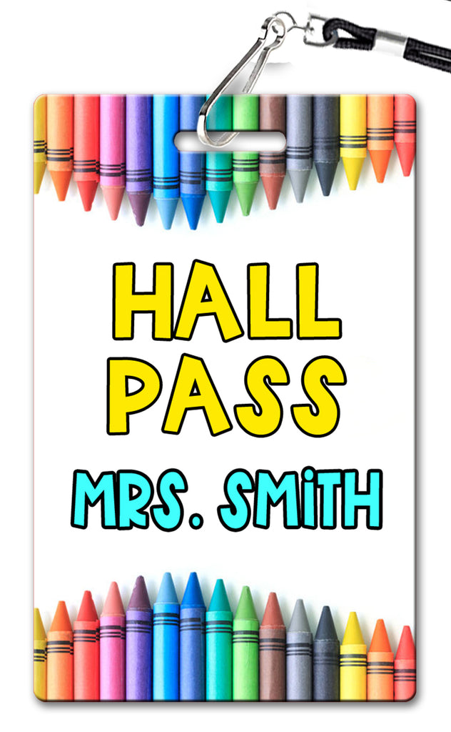 Crayons Hall Passes (Set of 10)