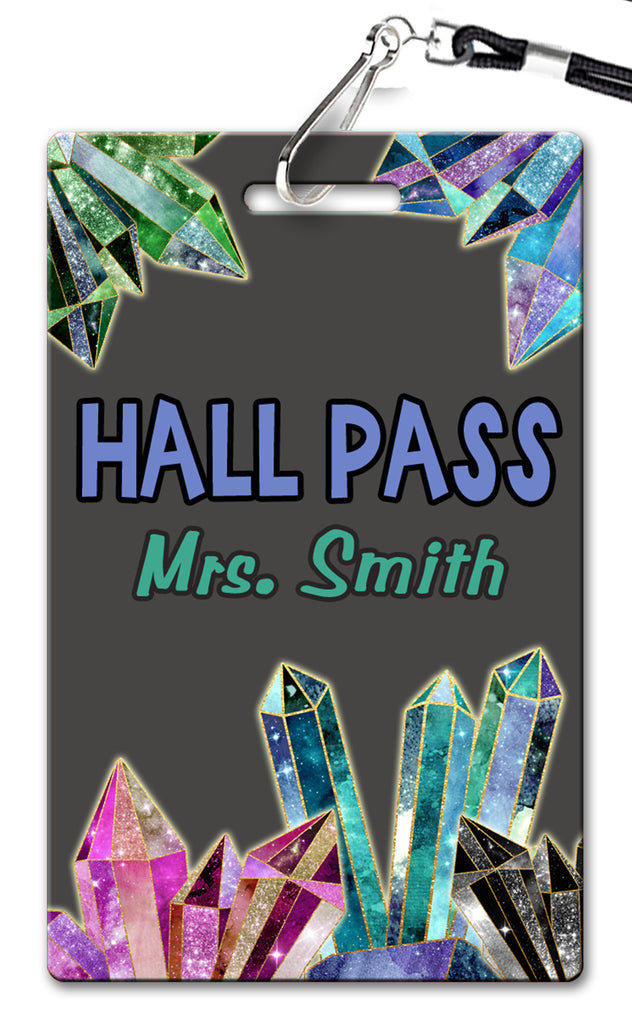 Crystals Theme Hall Passes (Set of 10)