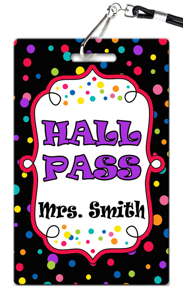 Dots Theme Hall Passes (Set of 10)