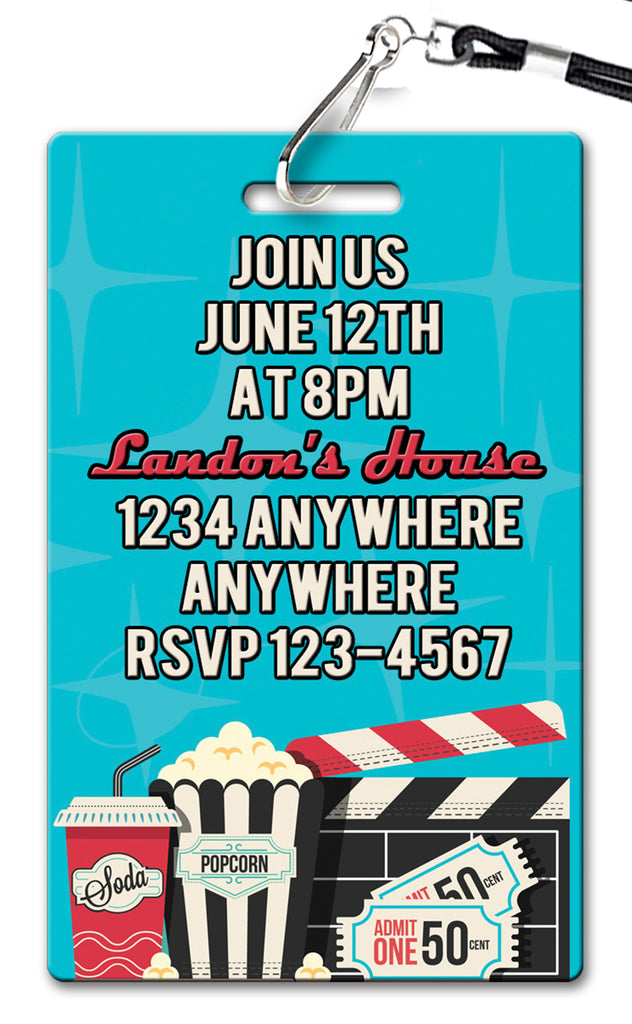 Drive In Birthday Invitation