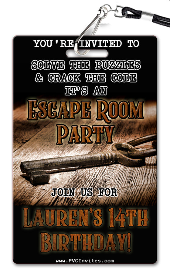 Escape Room Invitation