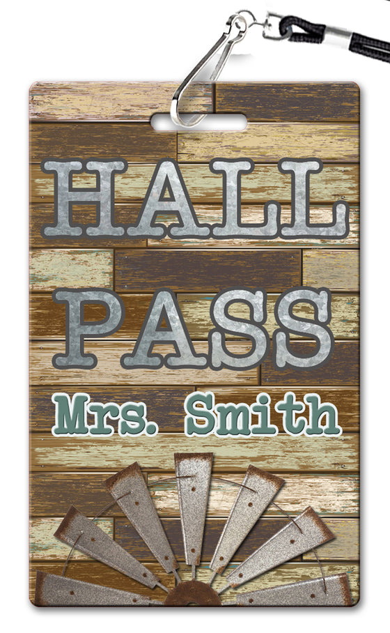 Farmhouse Hall Passes (Set of 10)