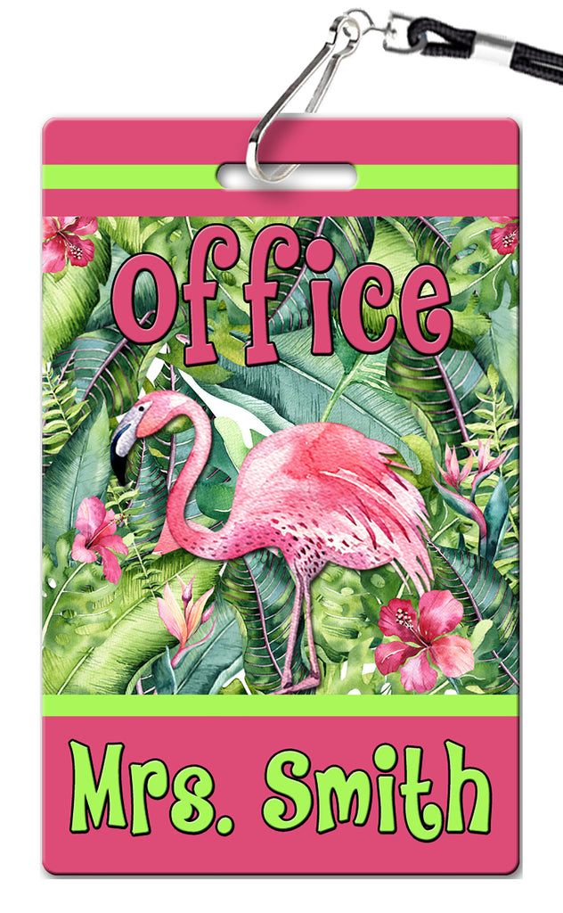 Flamingo Theme Hall Passes (Set of 10)