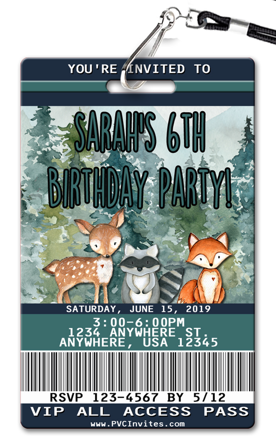 Fox and Friends Birthday Invitation