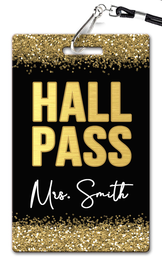 Gold Hall Passes (Set of 10)